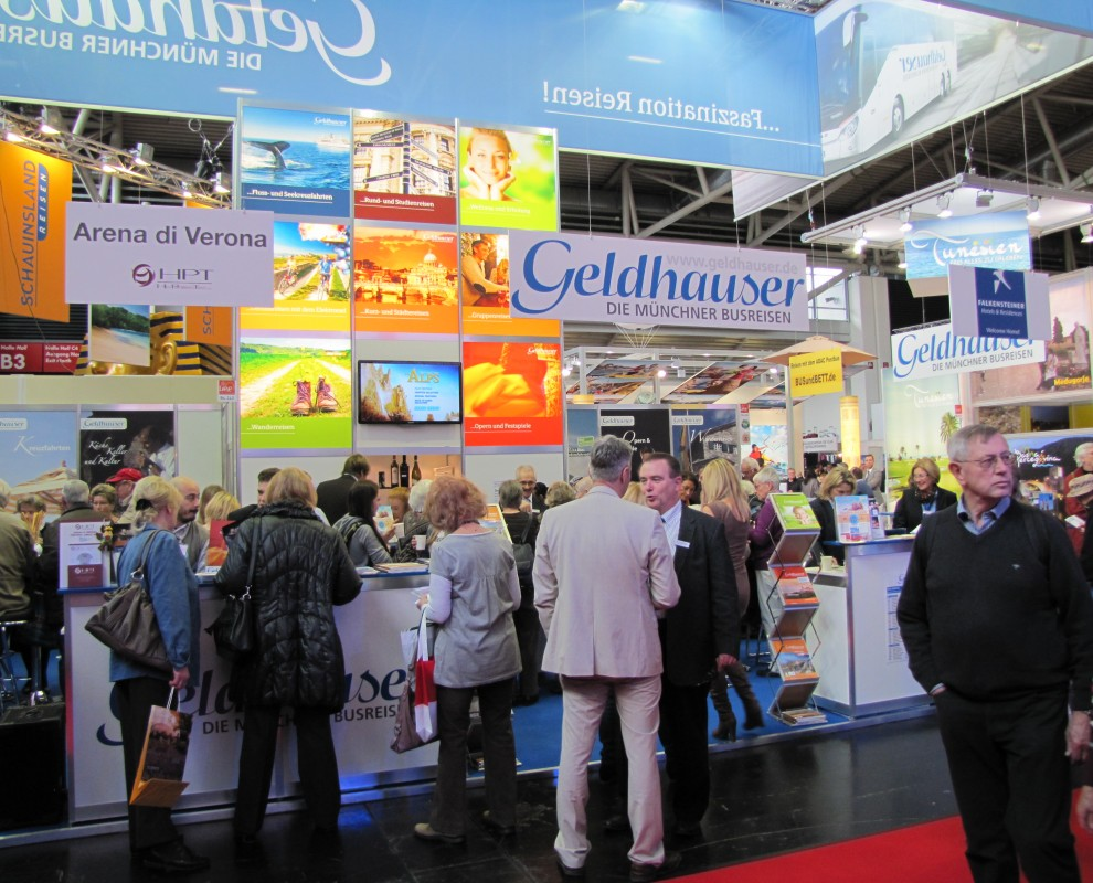 Besucherandrang am Messestand