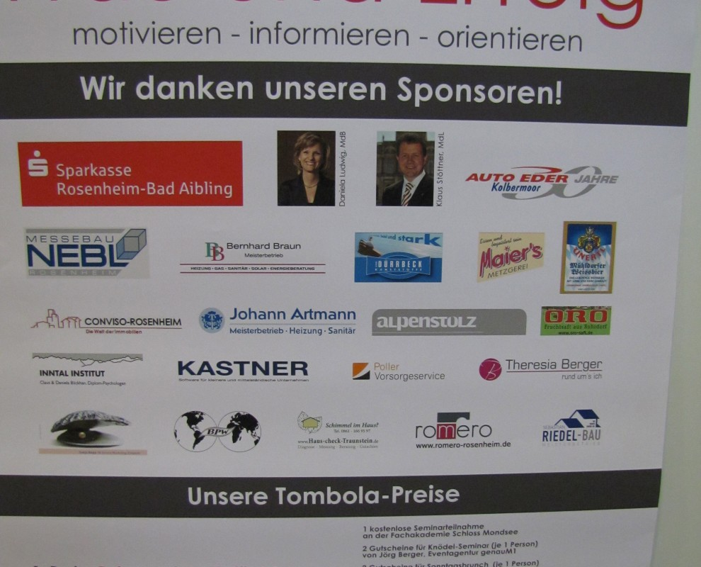 Messebau Nebl engagiert sich für eine erfolgreiche Messeausstellung von Veranstaltern in der Chiemgau Region